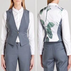 NWT Ted Baker Nisaw Polished Suit Waistcoat